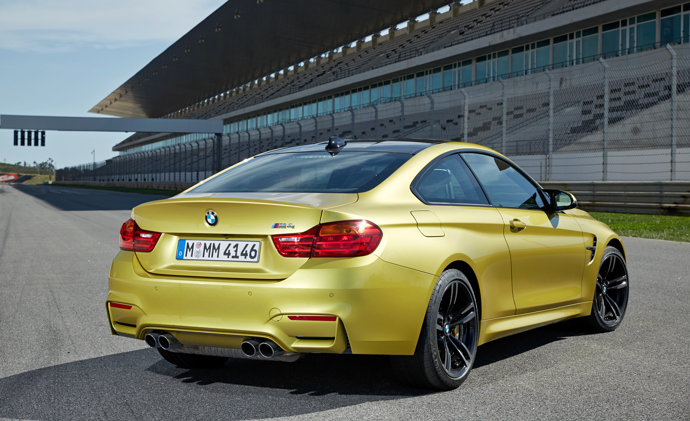 2015 BMW M4 Coupe Exterior Rear and Side