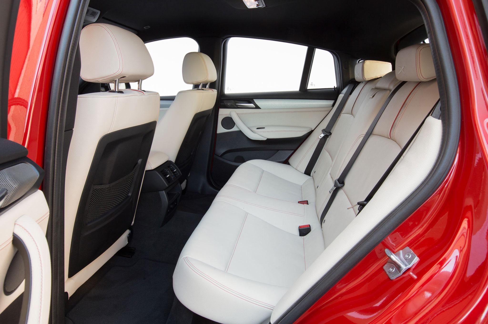 2015 BMW X4 Rear Seat Interior