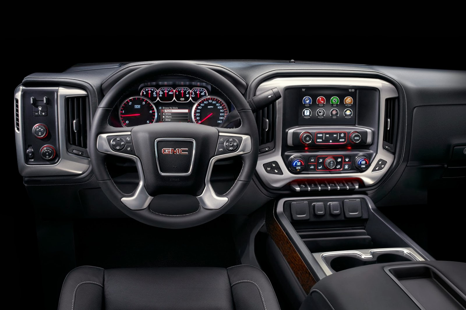 2015 Sierra 2500 Heavy Duty Pickup Trucks Dashboard and Cockpit