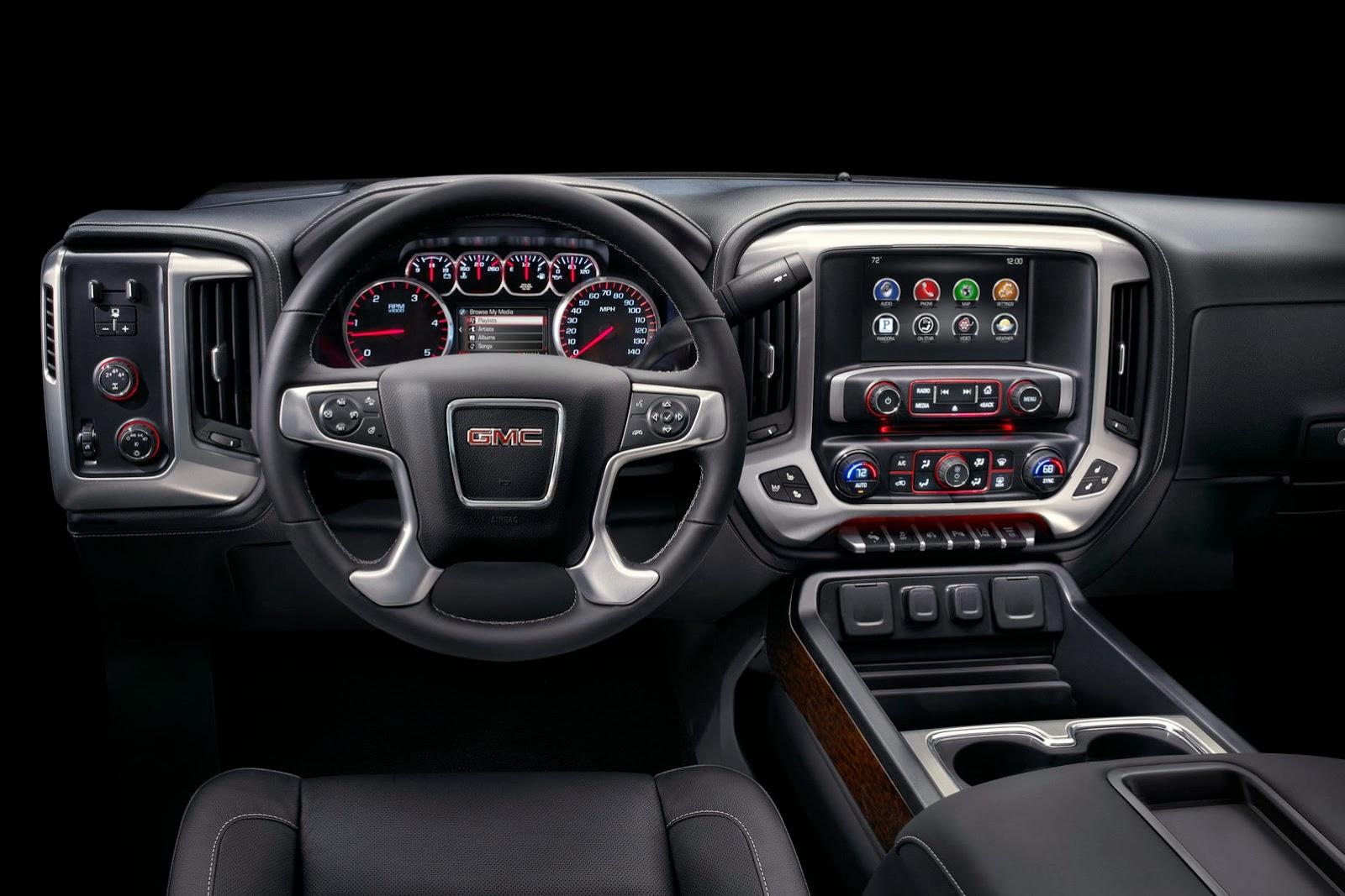 2015 Sierra 2500 Heavy Duty Pickup Trucks Dashboard and Cockpit