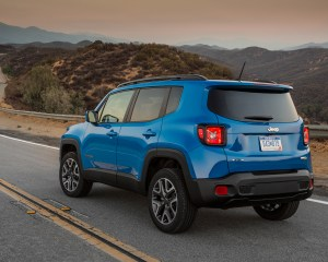 2015 Jeep Renegade Blue Rear Exterior Profile