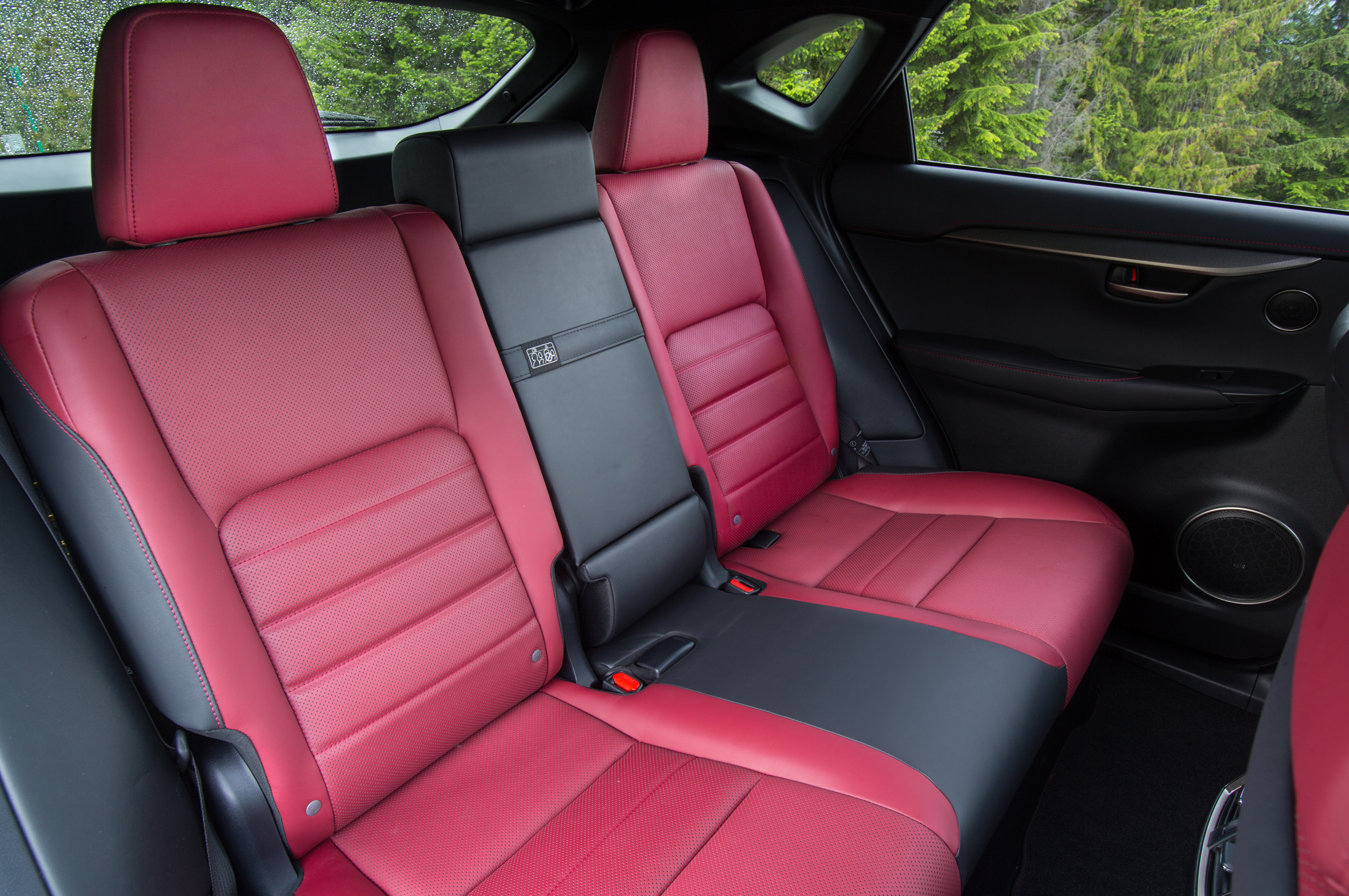 2015 Lexus NX 200T Rear Seats Design