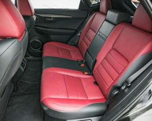 2015 Lexus NX Rear Interior