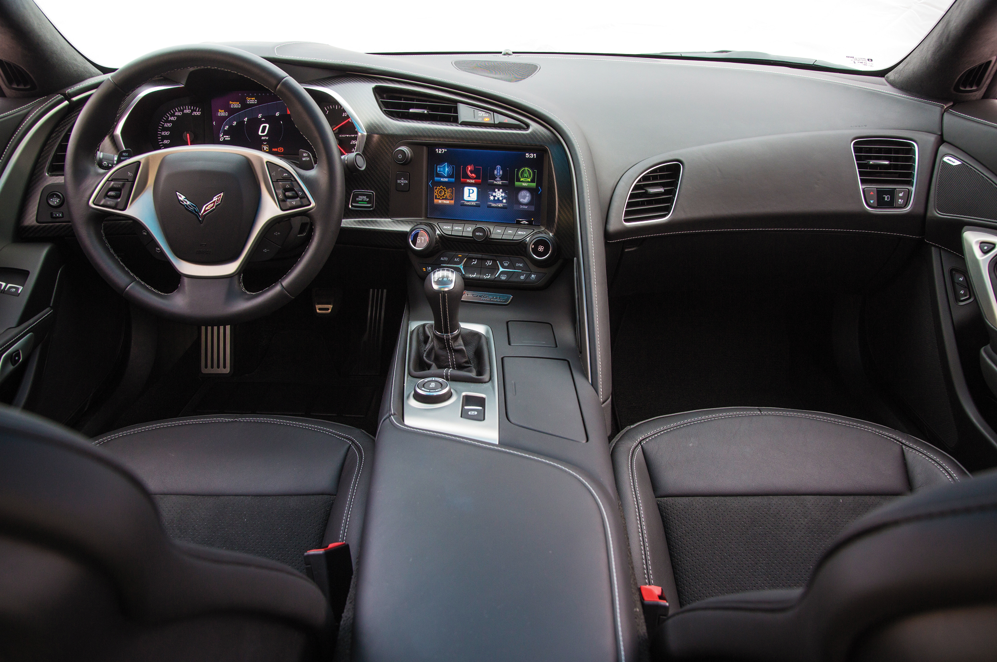 2014 Chevrolet Corvette Stingray Z51 Dashboard and Cockpit