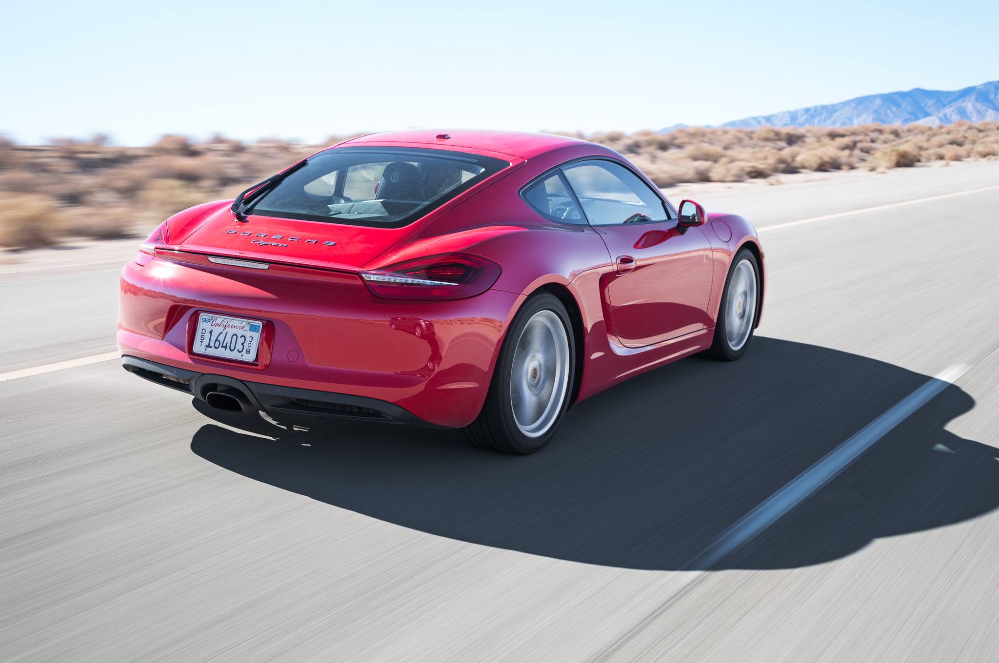 2014 Porsche Cayman Rear Side View