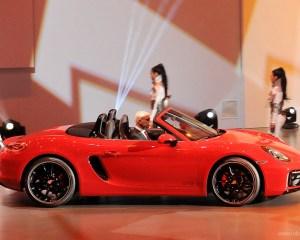 2015 Porsche Boxster Side View Auto Show