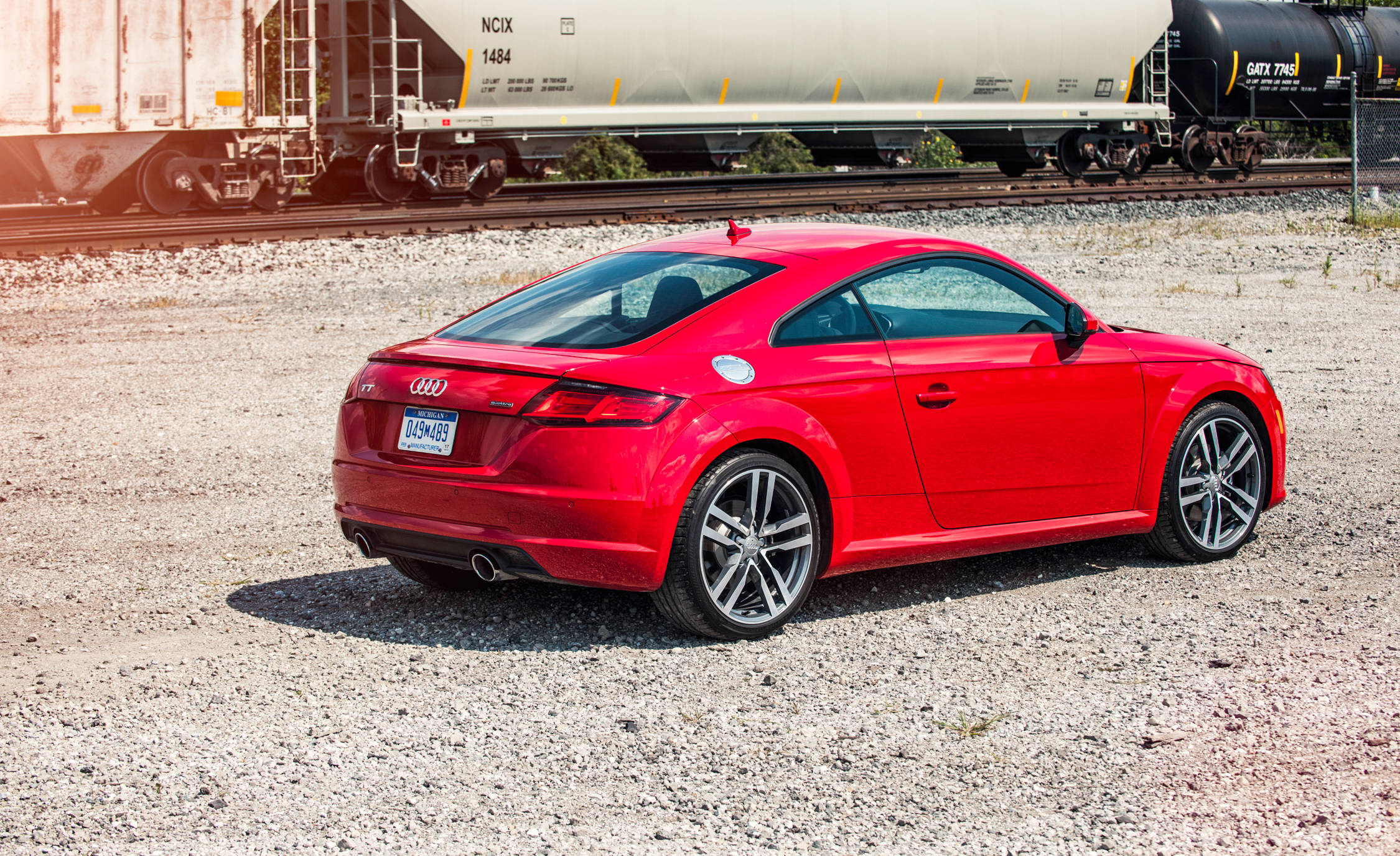 2016 Audi TT Coupe Exterior Rear and Side View