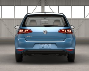 2016 Volkswagen e-Golf Rear End View