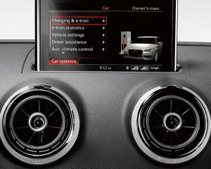 Audi A3 e-Tron Head Unit and Dashboard