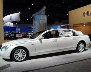 Auto Show: (White) Maybach 62 Landaulet