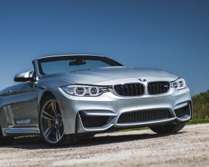 2015 BMW M4 Convertible Top Down Exterior