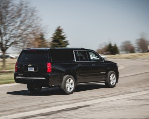 2015 Chevrolet Suburban LTZ Test Rear and Side View