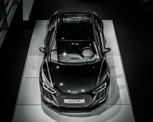 2016 Audi R8 V10 Plus Mythos Black Metalic Top View