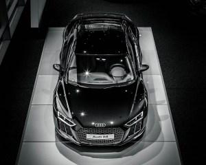 2016 Audi R8 V10 Plus Mythos Black Metalic Top View