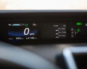 Interior MID Toyota Mirai 2016