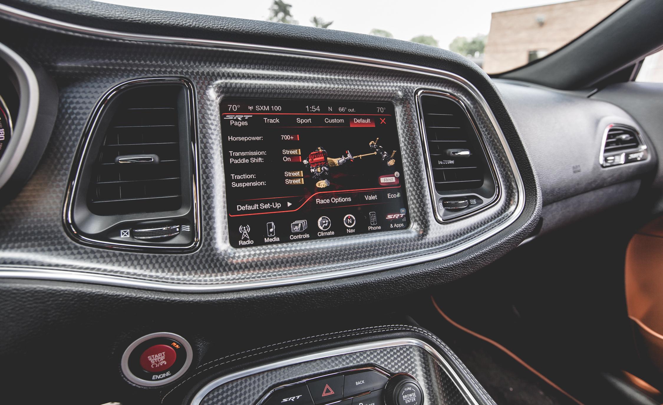 2015 Dodge Challenger SRT Hellcat Interior Center Head Unit