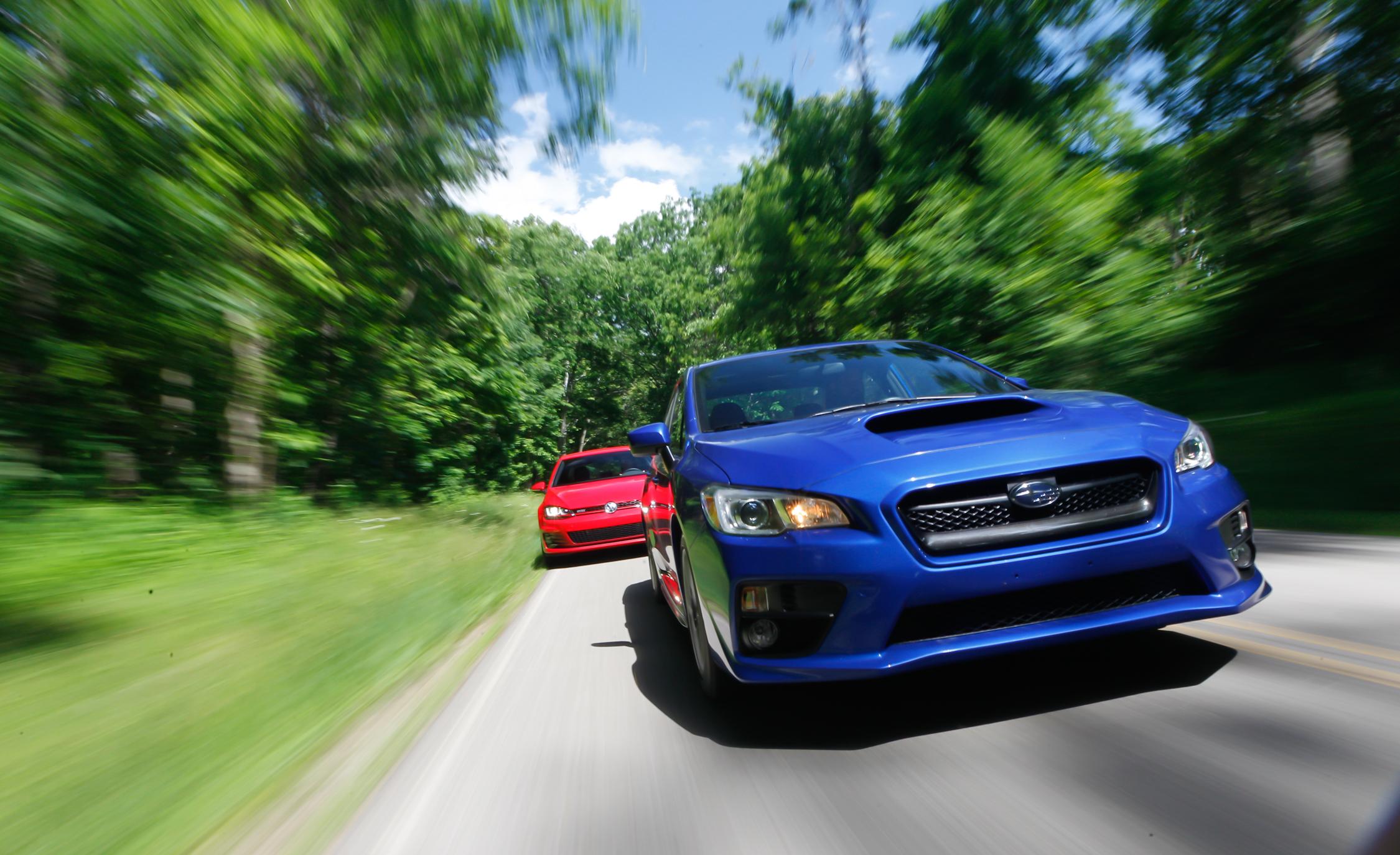 2015 Subaru WRX vs Volkswagen GTI Performance Test