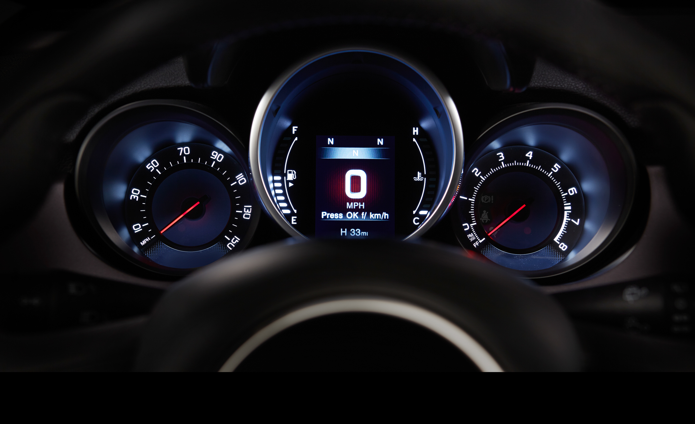2016 Fiat 500X Lounge Interior Speedometer