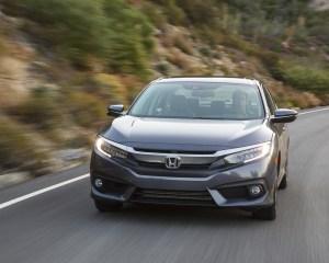 2016 Honda Civic Touring Sedan Test Front View