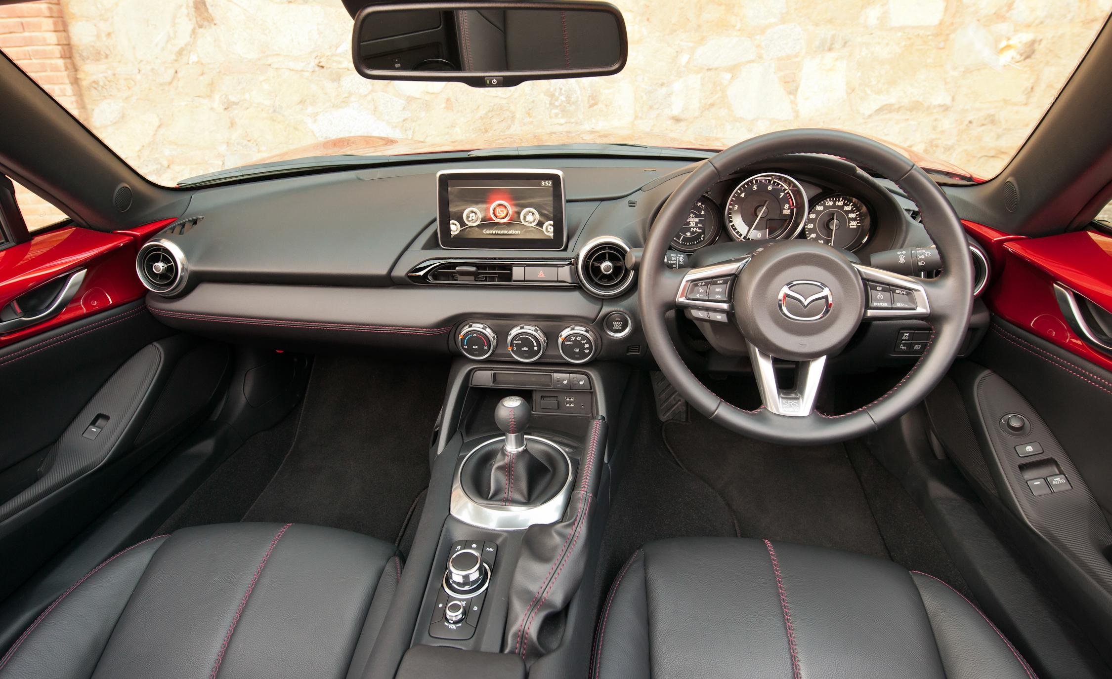 2016 Mazda MX-5 Miata Cockpit and Dashboard Interior
