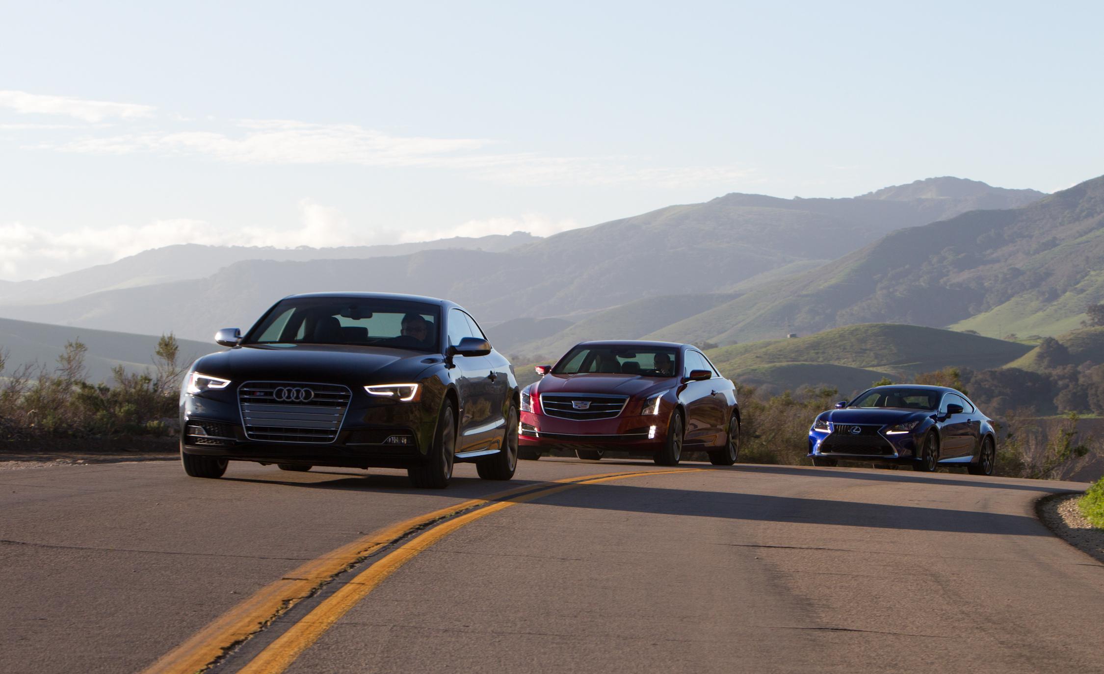 Comparison 2015 Audi S5 vs 2015 Cadillac ATS Coupe 3.6 vs 2015 Lexus RC350 F