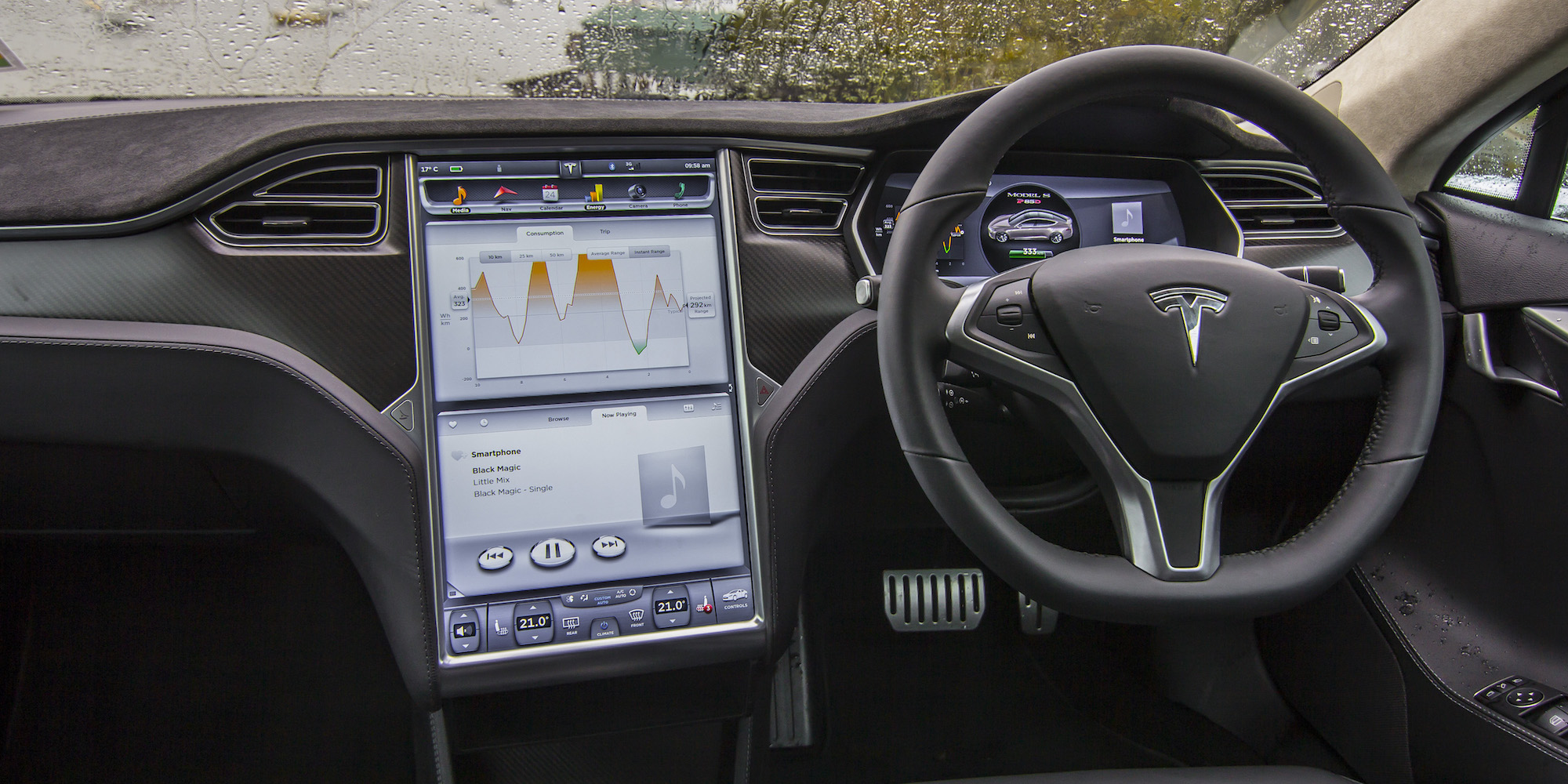 Head Unit and Steering Tesla Model S P85D 2015