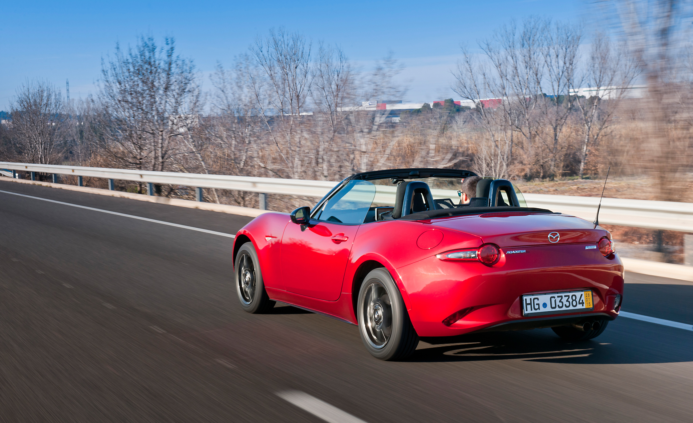 Rear Side View 2016 Mazda MX-5 Miata