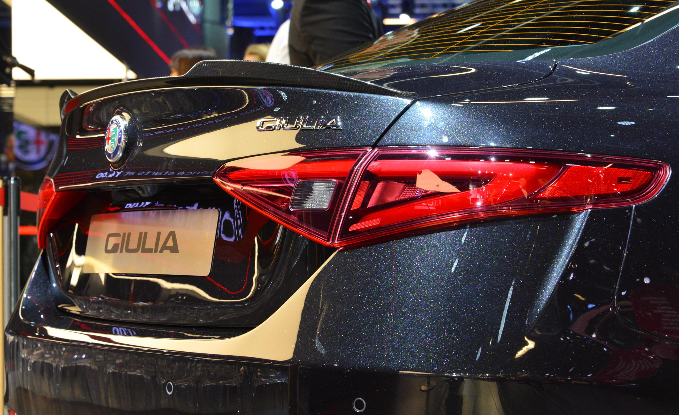 Taillight Design of 2017 Alfa Romeo Giulia Quadrifoglio