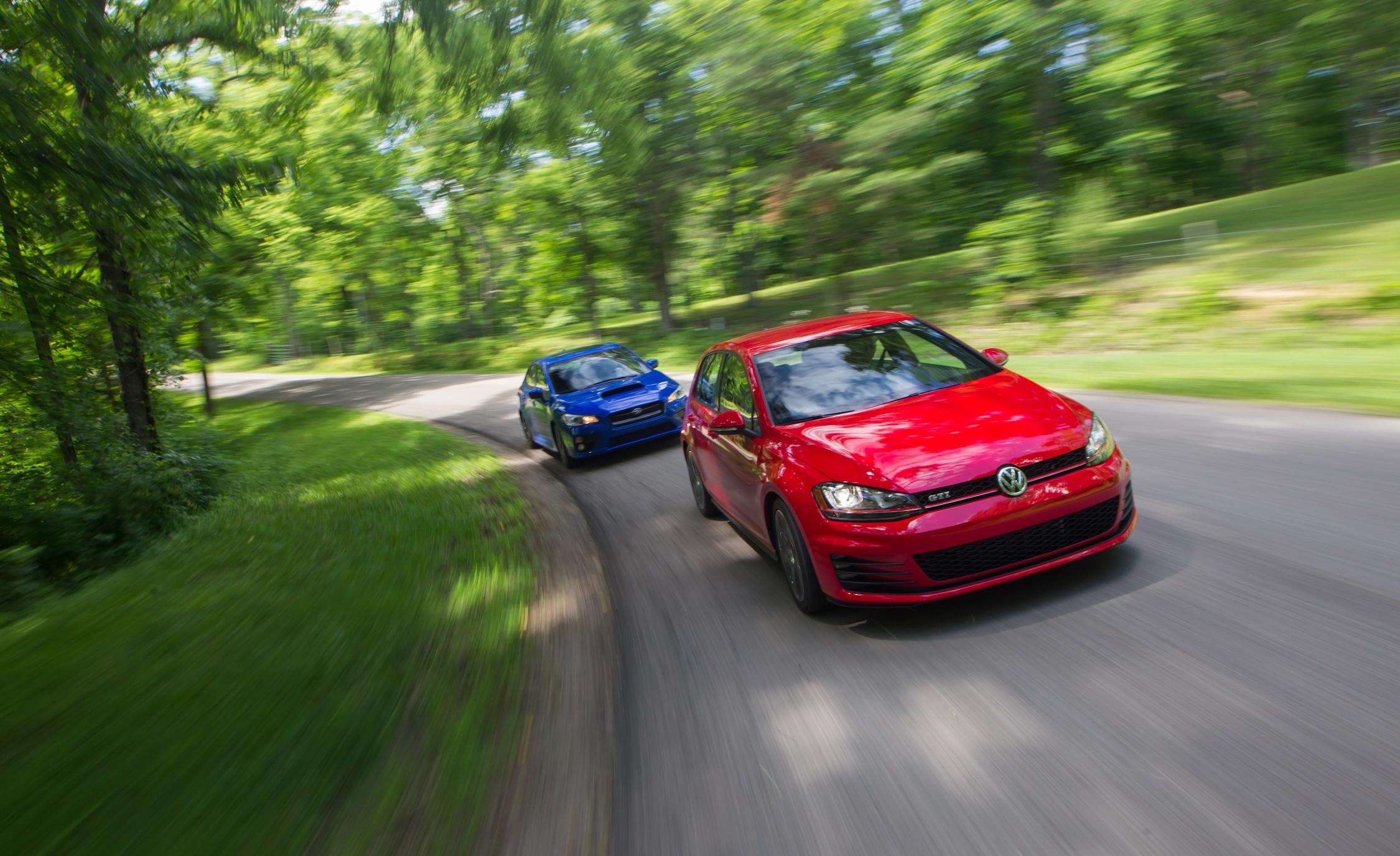 Test Drive 2015 Volkswagen GTI vs 2015 Subaru WRX