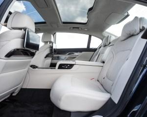 2016 BMW 750i xDrive Interior Rear Passengers Seats