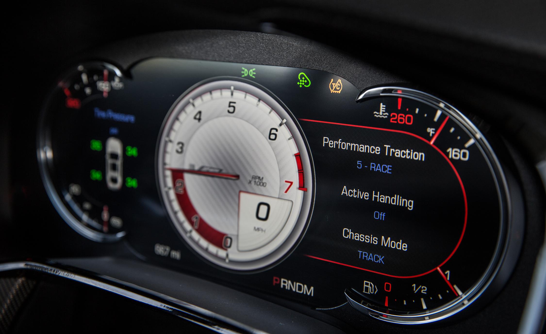 2016 Cadillac CTS-V Interior Speedometer