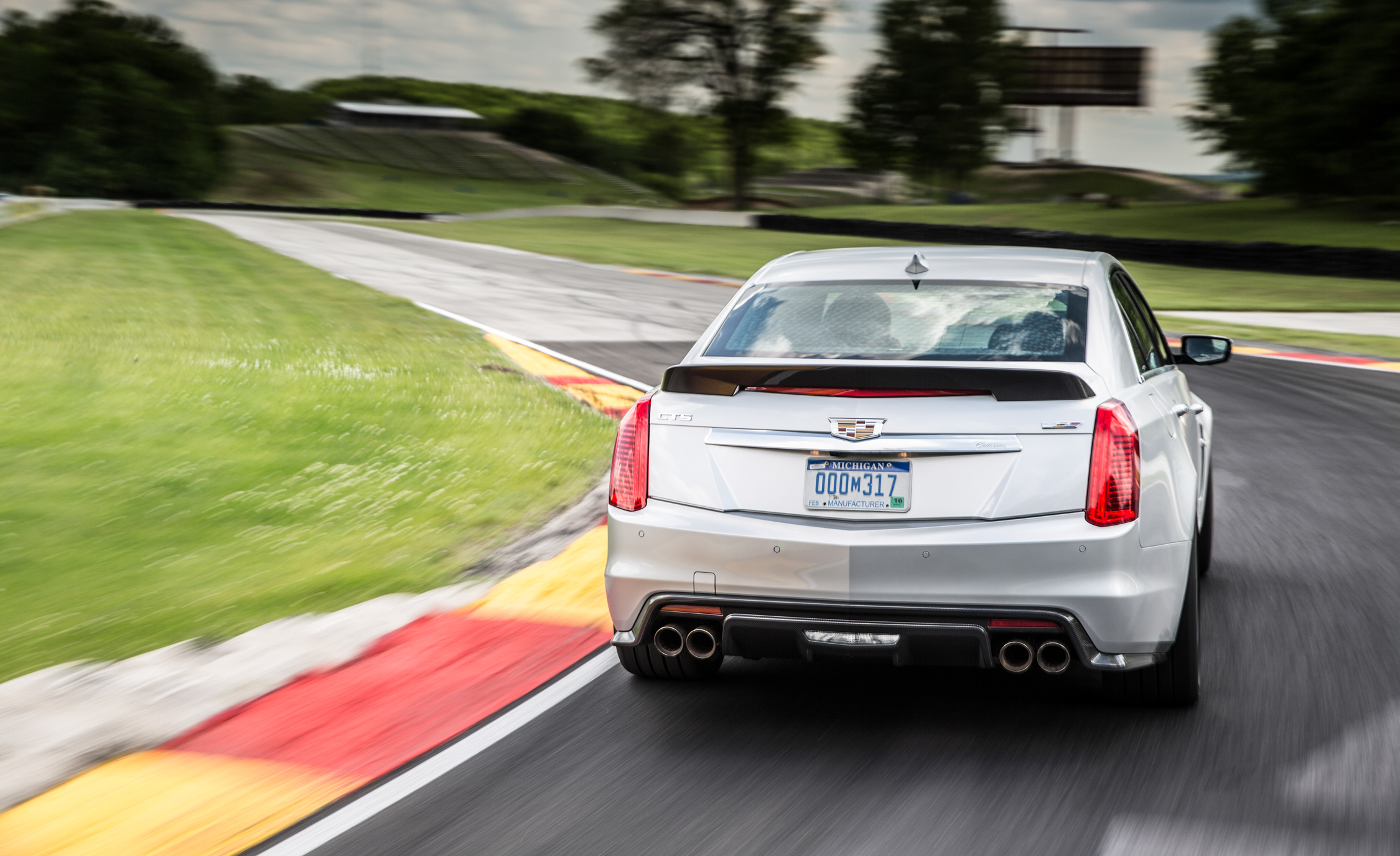 2016 Cadillac CTS-V Test Rear View
