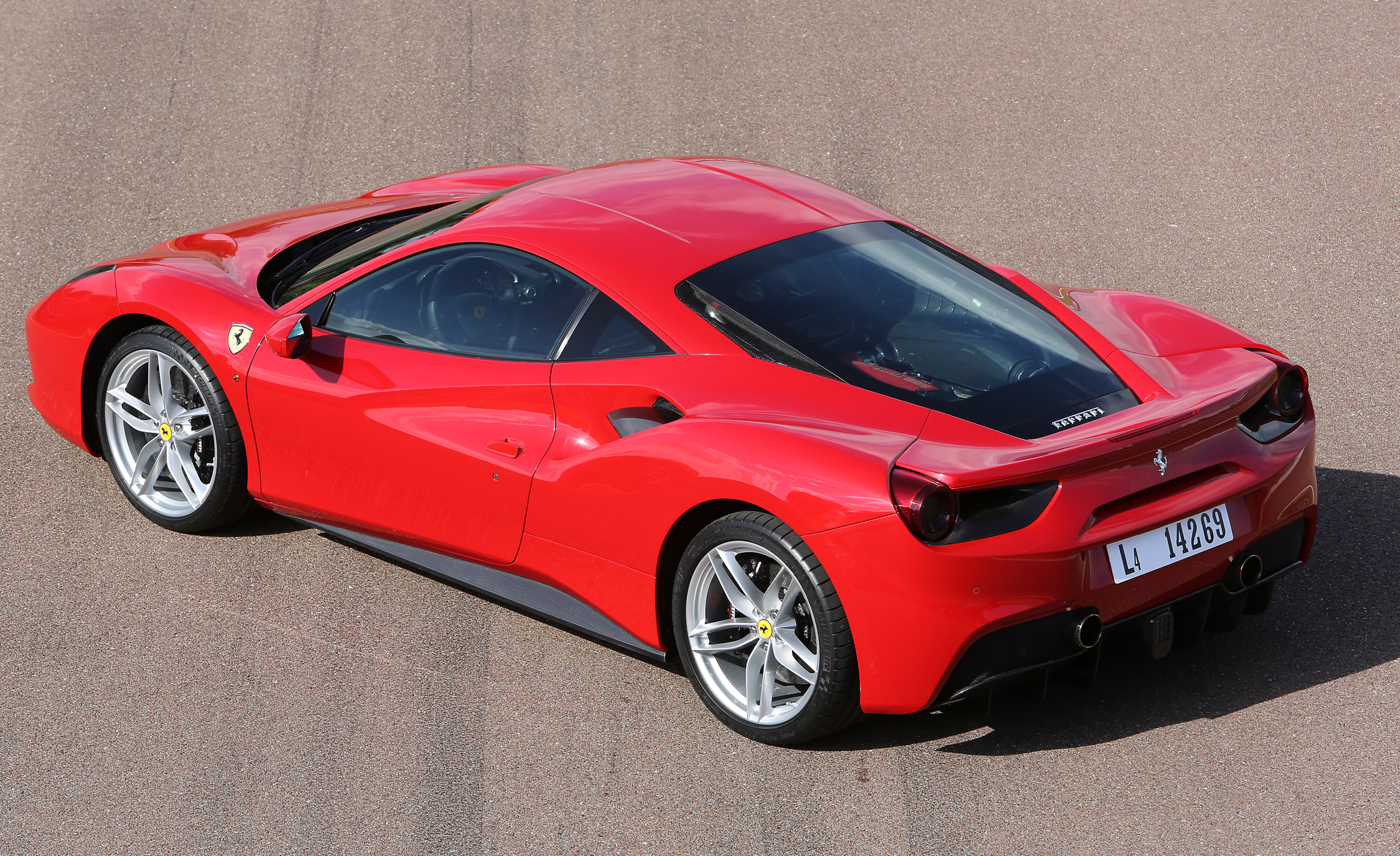 2016 Ferrari 488GTB Exterior Full Side and Rear