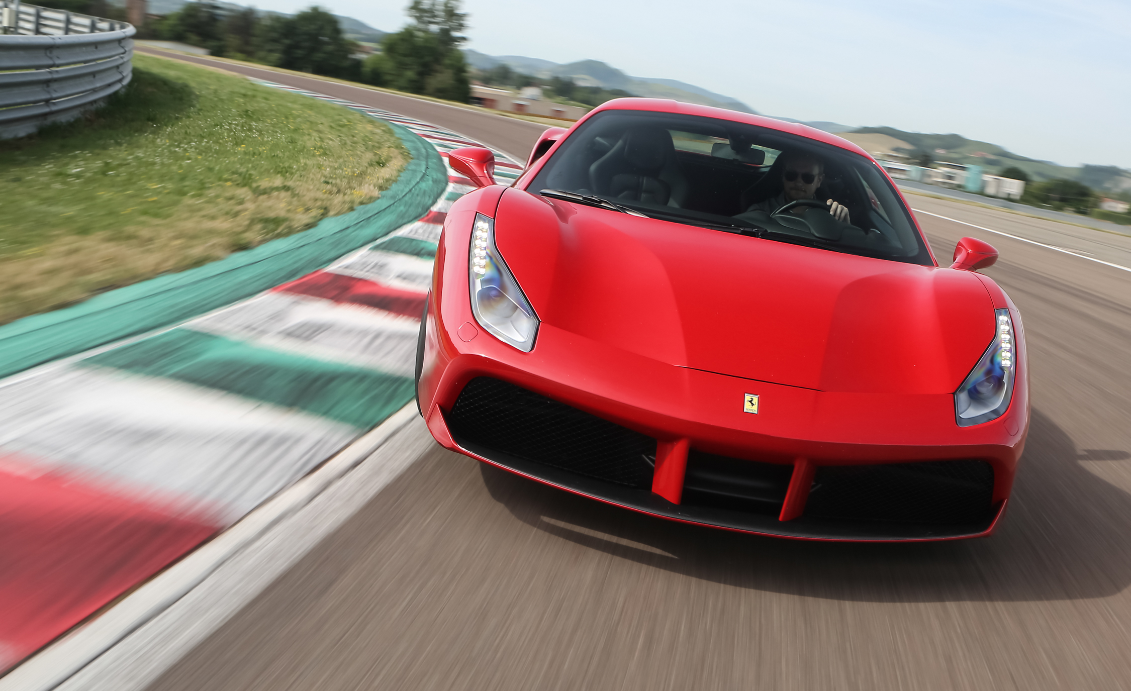 2016 Ferrari 488GTB Test Front View