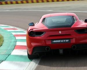2016 Ferrari 488GTB Test Rear View