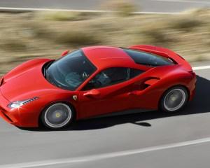 2016 Ferrari 488GTB Test Top View