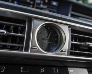 2016 Lexus IS200t F Sport Interior Clock