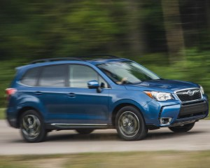 2016 Subaru Forester 2.0XT Touring Test Front and Side View