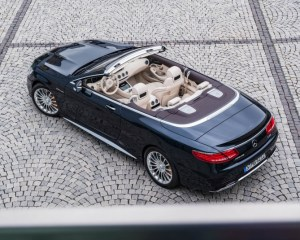2017 Mercedes AMG S63 Cabriolet Above View