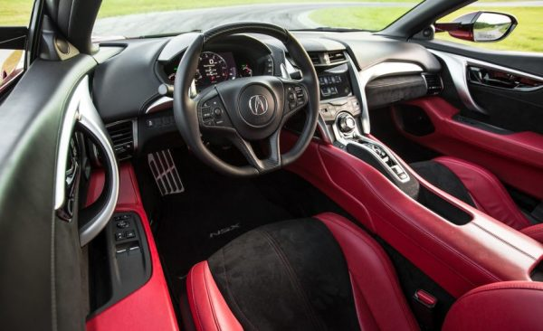 2017 Acura NSX car review interior