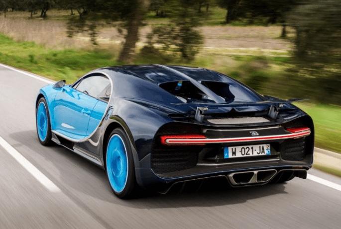 2017 Bugatti Chiron Rear View