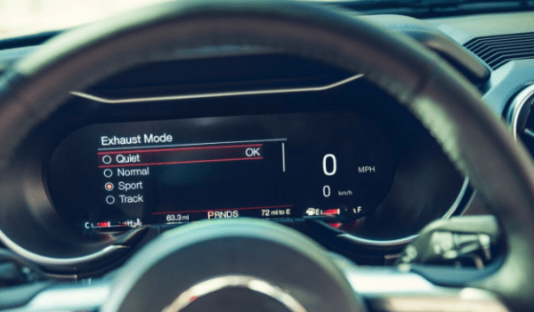 2018 Ford Mustang steering exhaust mode review