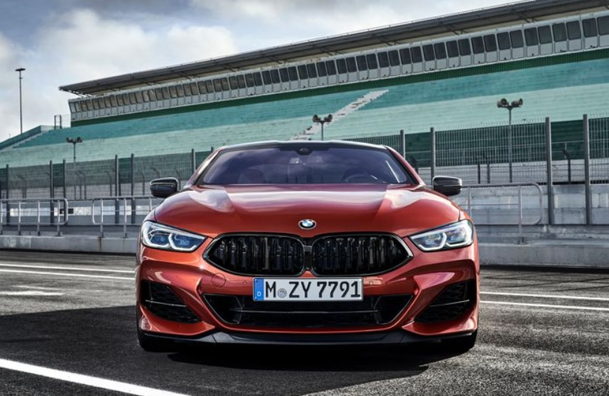 2019 BMW 850i Front Headlight View
