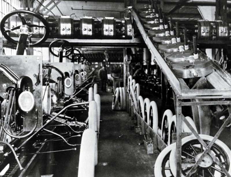 История изобретения конвейера конвейер перемещения автомобиля