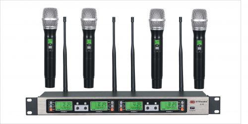 GTD Audio B-33 UHF 4x100 Channel Wireless Microphone Metal