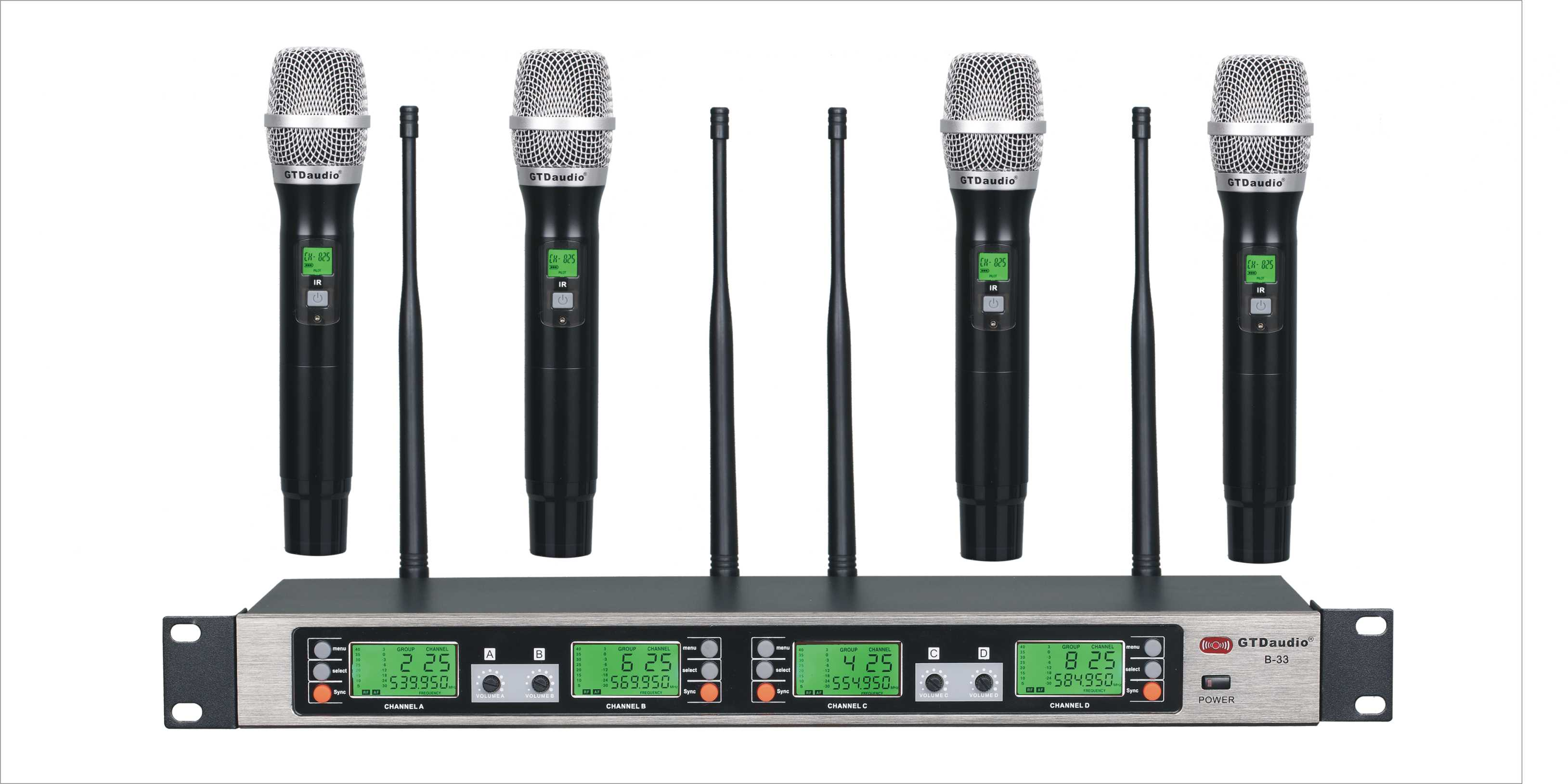 Gtd Audio B 33h Uhf 4x100 Channel Wireless Microphone