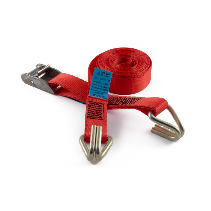 CB25H - 25mm 400kgs Cam Buckle Strap with Wire Claw Hooks
