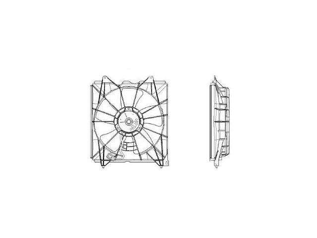 Radiator Fan Assembly For 2008-2012 Honda Accord 2010 2011