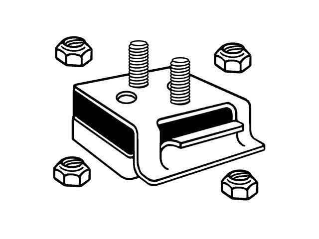 Front Engine Mount For 1972-1981 Jeep CJ5 5.0L V8 1974
