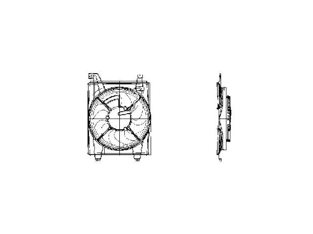 Radiator Fan Assembly For 2001-2006 Hyundai Elantra 2003